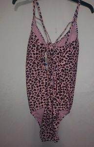 Pink Leopard One-Piece Swim Suit 2X 3X